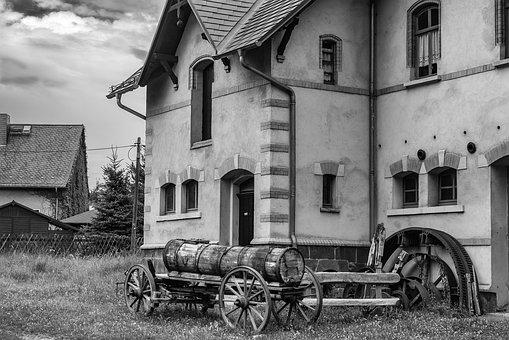 Black And White, Old, House, Old House, Retro, Vintage