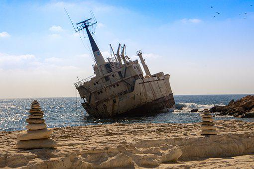 Edro, Cyprus, Wreck, Ship, Sea, Paphos, The Coast