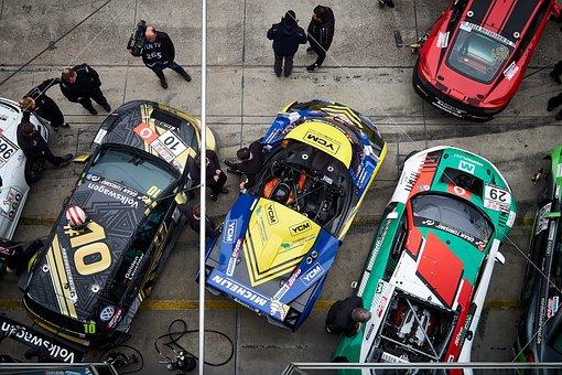 Racing Car, Motorsport, Pit Lane, Nürburgring, Racing