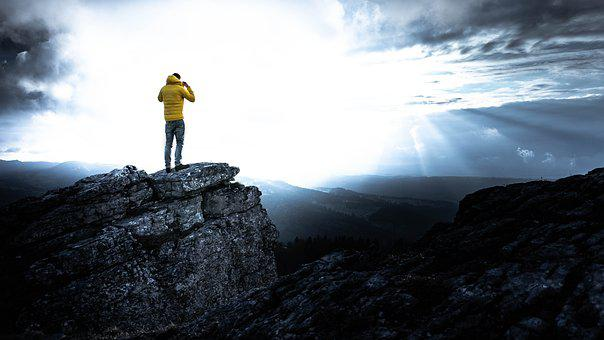 Alone, View, Yellow, Person, Only, Nature, Stand-alone