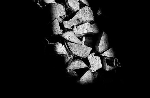 Black And White, Structure, Material, Wood, Light