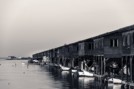 Huts, Fishers, Sea, Buildings, Fishing, Traditional