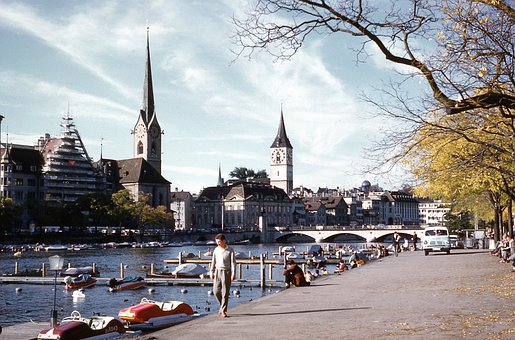 Vintage, Town, Water, Channel, Cityscape, Old, Tourism
