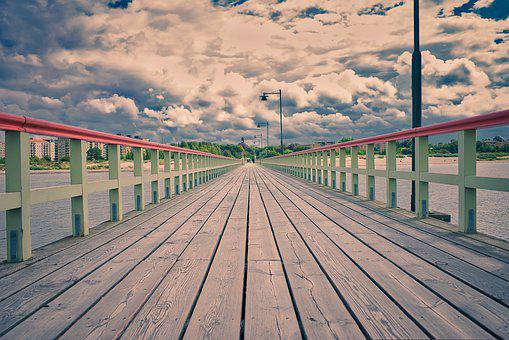 Vanishing Point, Boardwalk, Pier, Perspective