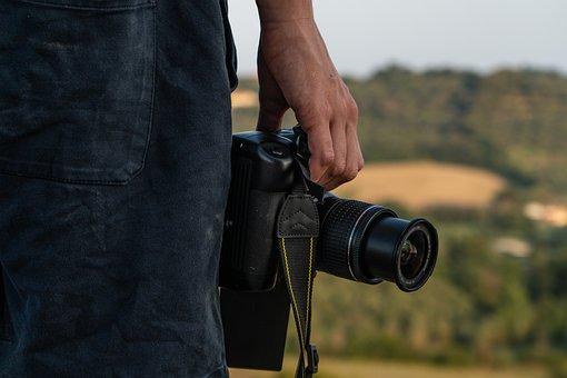 Portrait, Camera, Photographer, Dslr, Bokeh, People