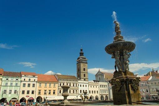 Square, Czech, Budějovice, Budějice, Southern, Bohemia