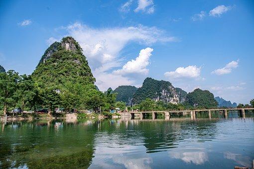 China, Guilin, Yangshuo, The Scenery, River