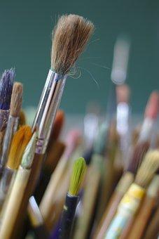 Paintbrush, Brushes, Artist, Paint, Creativity