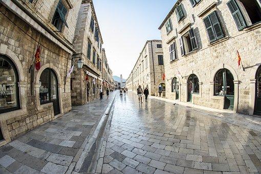 Dubrovnik, Stradun, Dalmatia, Croatia, Mediterranean