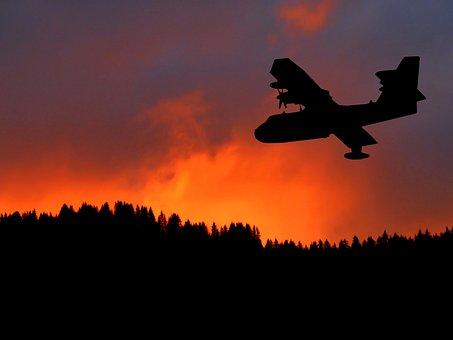 Sunset, Canadair, Aircraft, Flight, Transport, Engines