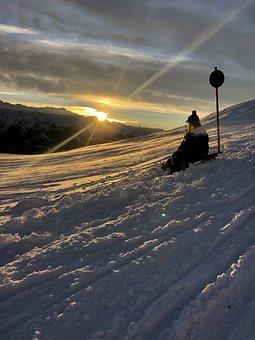 Winter, Snow, Toboggan, Ice, Alpine, Cold, Snowflake