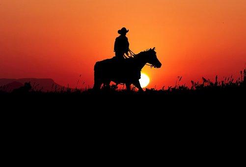 Sunset, Western, Jumper, Landscape, Nature, Wild, West