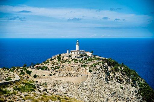 Mallorca, Spain, Balears Island, Lighthouse, Sea, Ocean