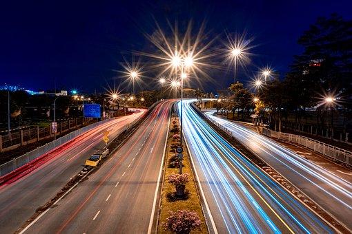 Long Exposure, Night, Malaysia, Asian, Lights, City