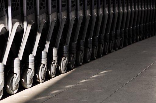 Trolleys, Wheels, Line, Repeating, Wheel, Metal