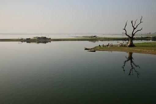 Asia, Burma, Myanmar, Mandalay, Ubein Bridge