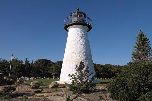 Lighthouse, Sky, Nature, Landscape, Coast, Landmark
