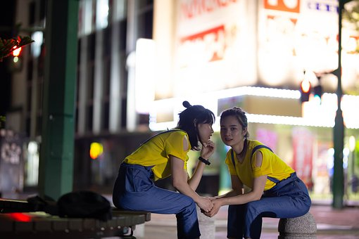 Pretty Girls, Evenings, Streets, Lights