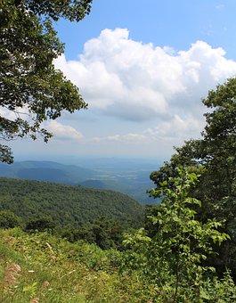 Shenandoah Valley, Virginia, Mountains, Clouds, Vista