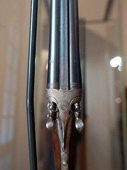 Weapon, Wood, Iron, Metal, Engraving, Detail, Old