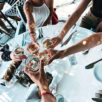 Woman Near The Table, Vine, Glass, Women, Ha, Glasses