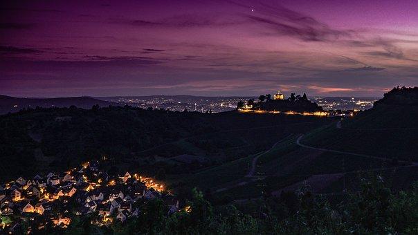 Afterglow, Cityscape, City, Sky, Abendstimmung, Dusk