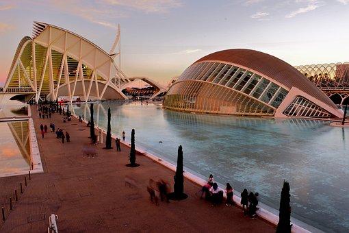 Valencia, Spain, Architecture, City, Pool, Europe
