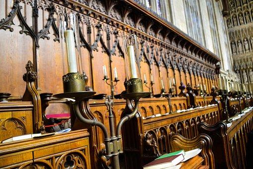 Candles, Oxford, Church, England, Building