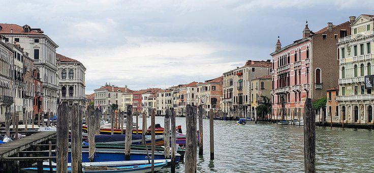 Canals, Venice, Italy, Canal, Boat, Venetian, Buildings