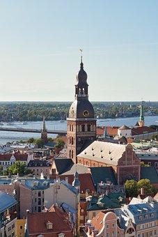 Riga, Latvia, Architecture, Panorama, Facade, City