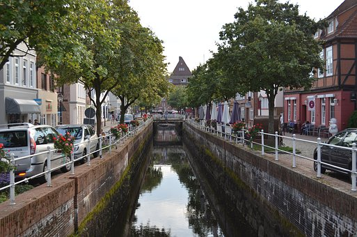 Buxtehude, Channel, Water, City