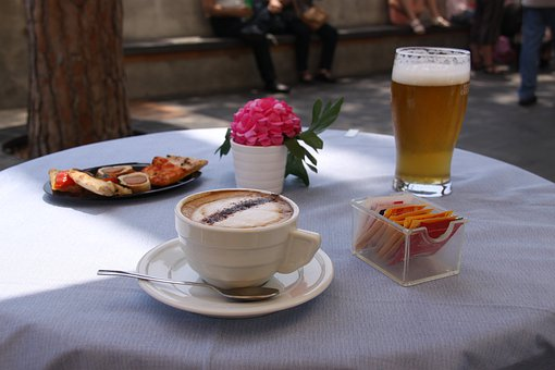 Coffee, Beer, Glass, Cup, Drink, Restaurant, Bar
