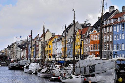 Copenhagen, Nyhavn, Denmark, Architecture, Canal