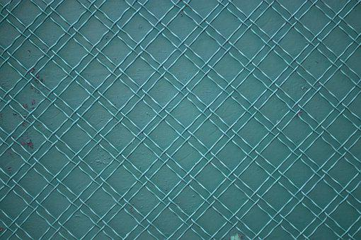 Fence, Fence Grid, Grid, Green Texture