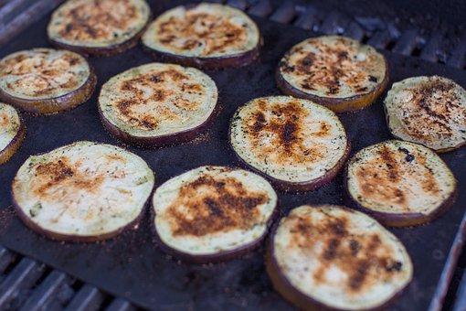 Eggplant, Grilled, Roasted, Healthy, Vegetables
