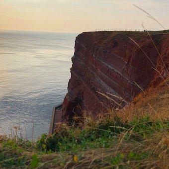Helgoland, Island, North Sea, Sea, Water, Rock