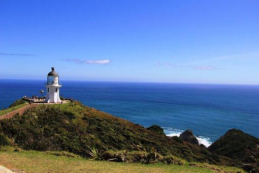 Light, House, Tower, Cape, Reinga, New, Zealand