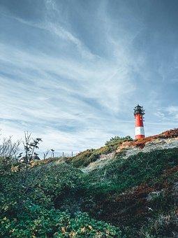 Sylt, Lighthouse, North Sea, Island, Elbow, Coast