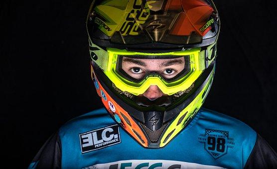 Motocross, Helmet, Motorbike, Motorcycle, Action, Speed