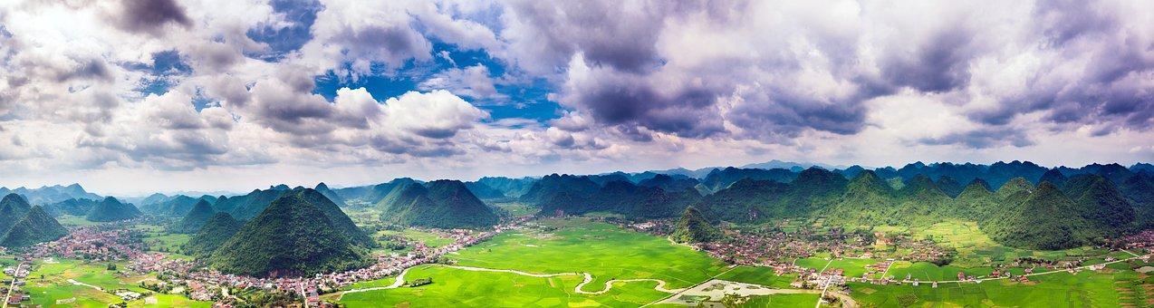 Bac Son, Lang Son, Mountain, Cloudy, Landscapes