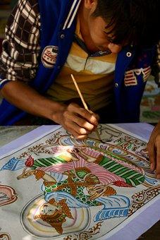 Asia, Burma, Myanmar, Bagan, Art, Artist, Artistic