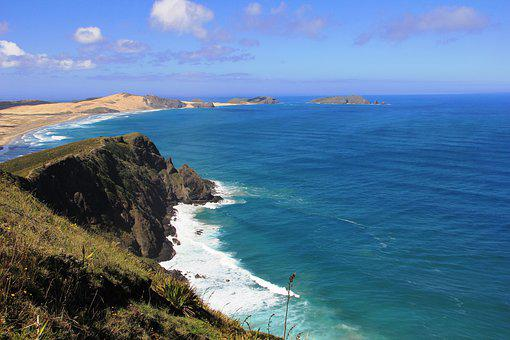 Coast, Line, Sea, View, New, Zealand, Nz, Coastline
