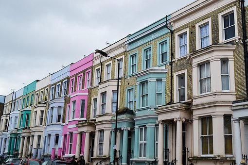 Notting Hill, London, Uk, House, Urban, Vintage, Old