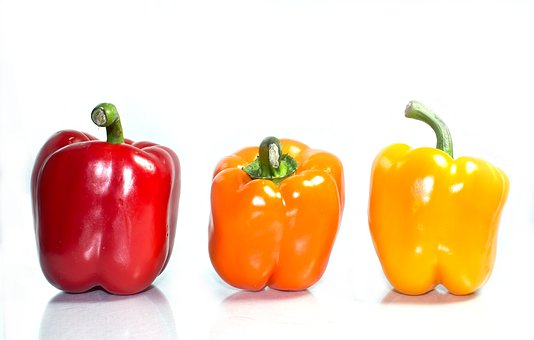 Background, Bell, Peppers, Isolated, Bell-pepper