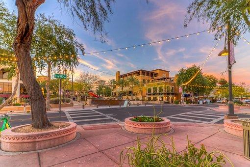 Downtown, Scottsdale, Arizona, Phoenix, Desert, Az
