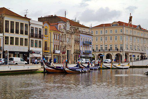 Portugal, Aveiro, Boats, Channel, Water, River