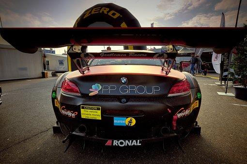 Motorsport, Racing Car, Bmw, Rear Wing, The Paddock