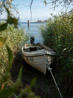 Boat, Green, Lake, Sea, Port, Water, Landscape, Sky