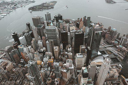 New York, Skyline, Skyscraper, Building, City