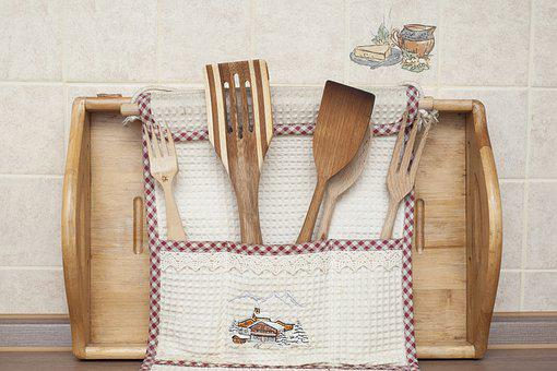 Spatula, Tools, Kitchen, Cook, Cooking, Fork, Wood